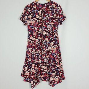 Tommy Hilfiger Brookshire Maroon Floral Dress NWT